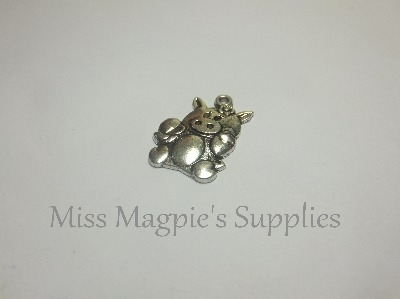 SILVER TONE - CUTE PIG - PACK OF 5