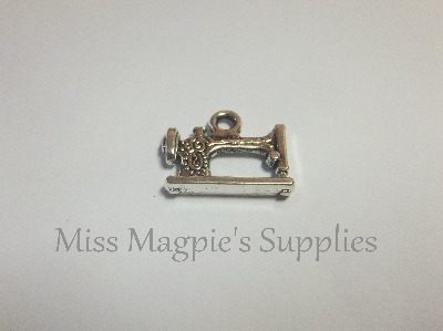 SILVER TONE - SEWING MACHINE - PACK OF 5