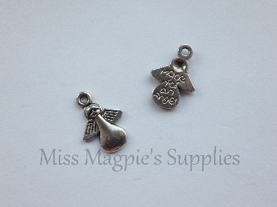 SILVER TONE - MADE FOR A ANGEL - PACK OF 10