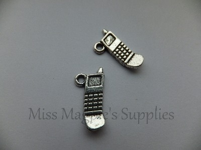 SILVER TONE - MOBILE PHONE - PACK OF 5