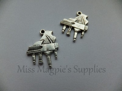 SILVER TONE - PIANO - PACK OF 5
