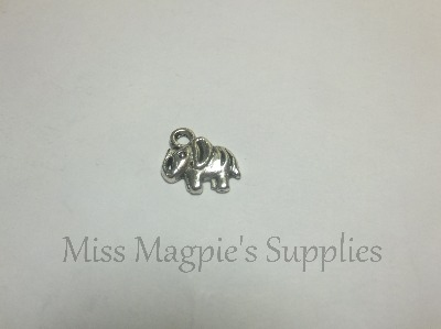 SILVER TONE - SMALL ELEPHANTS - PACK OF 10