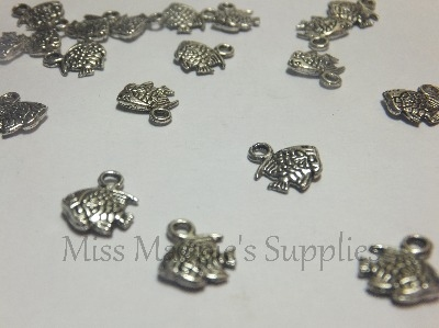 SILVER TONE - SMALL FISH - PACK OF 10