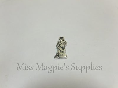 SILVER TONE - SMALL KNEELING GIRL - PACK OF 5
