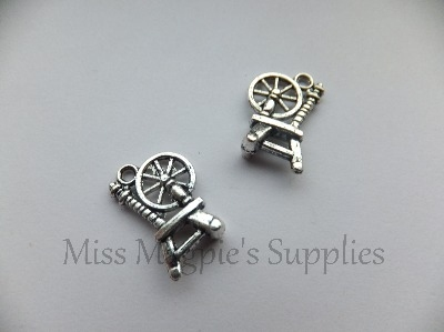 SILVER TONE - SPINNING WHEEL - PACK OF 6