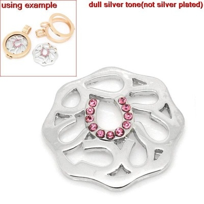 FLOATING LOCKET CHARM DISK - SMALL HORSE SHOES - 24X23MM - PACK OF 1