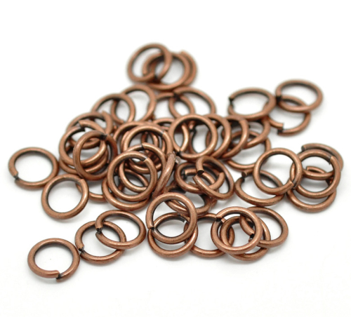 COPPER TONE JUMPRINGS - 10X1.5MM - PACK OF 200