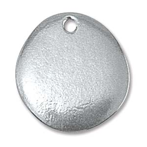 PEWTER SOFT STRIKE RIVERSTONE BLANK - 20X18MM ROUND -16 GAUGE - PACK OF 1