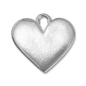 PEWTER SOFT STRIKE BLANK - 19X17MM HEART WITH LOOP - 16 GAUGE - PACK OF 1