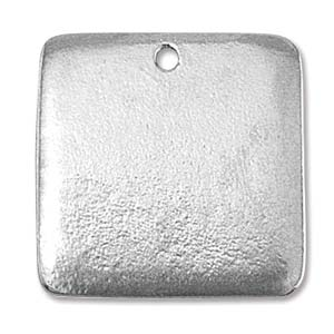 PEWTER SOFT STRIKE BLANK - 24.5MM SQUARE - 16 GAUGE - PACK OF 1