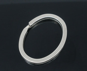 SILVER TONE - OVAL KEY/SPLIT RING - PACK OF 5
