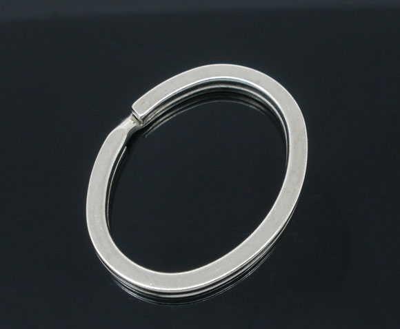 SILVER TONE - OVAL KEY/SPLIT RING
