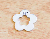 #93 - FLOWER WASHER WITH FLOWER - ALUMINUM STAMPING BLANKS - 14G - PACK OF 5