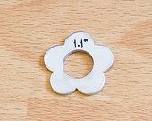 #94 - FLOWER WASHER WITH HOLE - ALUMINUM STAMPING BLANKS - 14G
