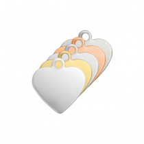 ALUMINUM SOFT STRIKE BLANK - HEART TAG 13MM - 20 GAUGE - PACK OF 10