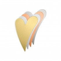 ALUMINUM SOFT STRIKE BLANK - SLANTED SKINNY STYLE HEART 27X7MM - 20 GAUGE -