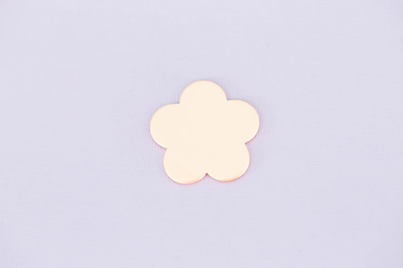 #179 - LARGE FLOWER - COPPER METAL STAMPING BLANKS - 16G - PACK OF 5