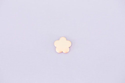 #178 - SMALL FLOWER - COPPER METAL STAMPING BLANKS - 16G - PACK OF 5