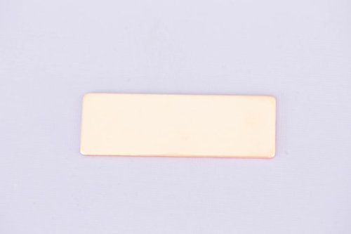 #213 - LARGE RECTANGLE - COPPER METAL STAMPING BLANKS - 16G - PACK OF 5