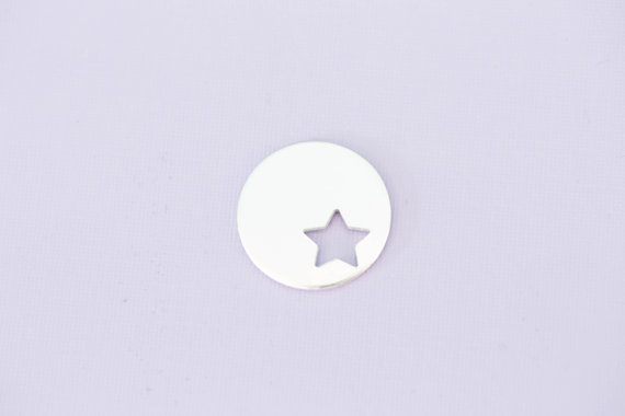 #207 - ROUND WITH STAR CUTOUT - ALUMINIUM METAL STAMPING BLANKS - 14G - PAC