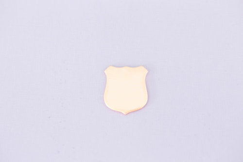 #204 - POLICE BADGE - COPPER METAL STAMPING BLANKS - 16G - PACK OF 5