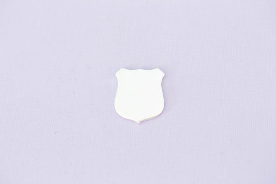 #203 - POLICE BADGE - ALUMINIUM METAL STAMPING BLANKS - 14G - PACK OF 5