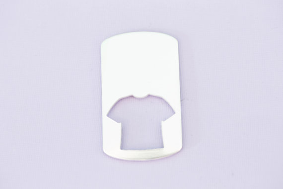 #202 - LARGE DOGTAG WITH JERSEY T SHIRT CUTOUT - ALUMINUM METAL STAMPING BL