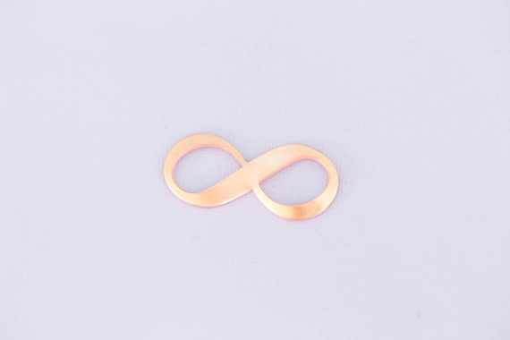 #198 - INFINITY SYMBOL - COPPER METAL STAMPING BLANKS - 16G - PACK OF 5