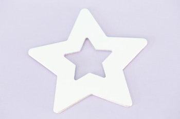 #184 - LARGE STAR WASHER ORNAMENT - ALUMINIUM METAL STAMPING BLANKS - 14G - PACK OF 5
