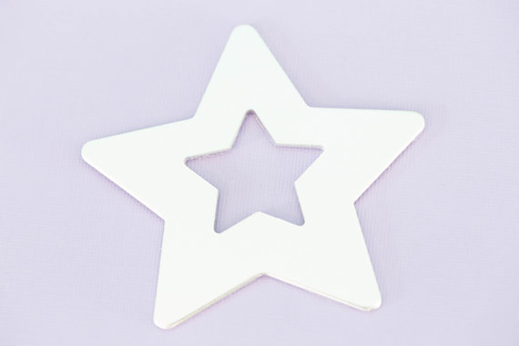 #184 - LARGE STAR WASHER ORNAMENT - ALUMINIUM METAL STAMPING BLANKS - 14G -