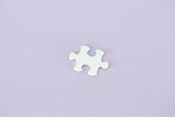 #141 - ALUMINUM SMALL PUZZLE PIECE - ALUMINUM STAMPING BLANKS - 14G - PACK