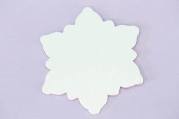 "#147 - 2.75""X2.3"" LARGE SNOWFLAKE ORNAMENT - ALUMINUM STAMPING BLANKS - 14G - PACK OF 5"