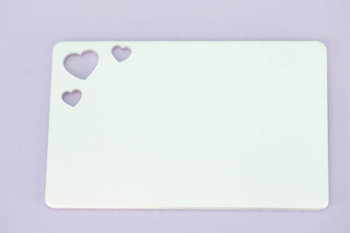 "#151 - 2.125"" by 3.375"" WALLET INSERT WITH TRIPLE HEARTS - ALUMINUM STAMPING BLANKS - 14G - PACK OF 5"