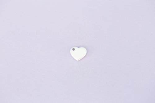 #167 - TINY HEART WITH HOLE - ALUMINIUM METAL STAMPING BLANKS - 14G - PACK