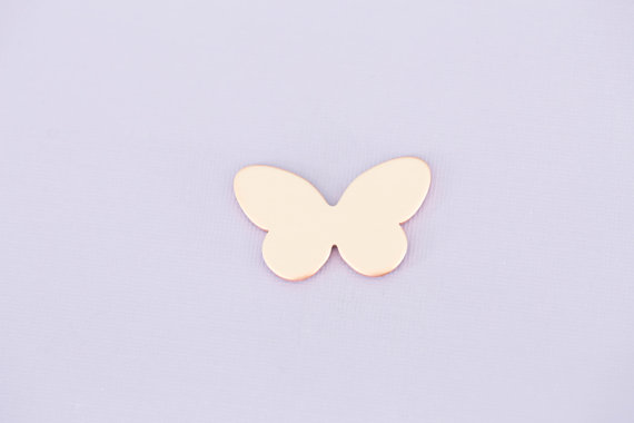 #171 - BUTTERFLY - COPPER METAL STAMPING BLANKS - 16G - PACK OF 5