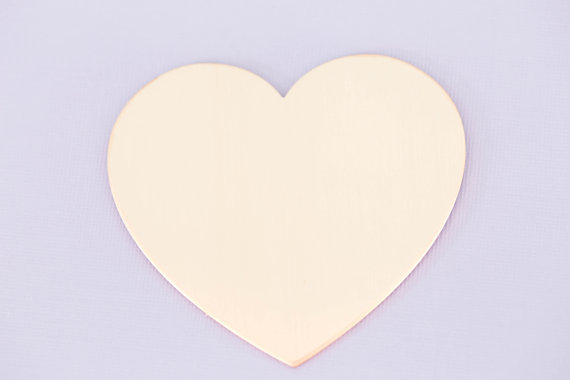 #174 - LARGE HEART ORNAMENT - COPPER METAL STAMPING BLANKS - 16G - PACK OF