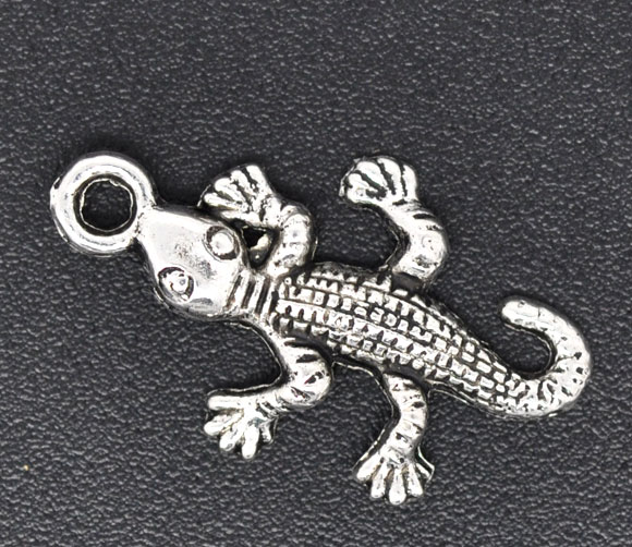 SILVER TONE - LIZARD - PACK OF 5