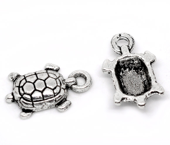 SILVER TONE - TURTLE - PACK OF 5