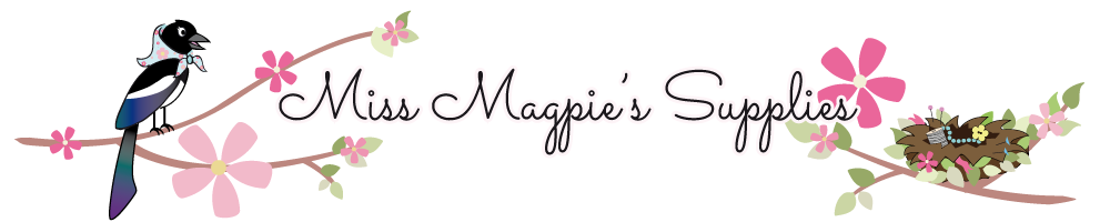 Miss Magpie's Supplies, site logo.