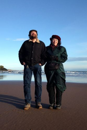 Colin & Lisa on Beach 2