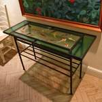 all glass koi console