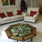octagonal large coffee table