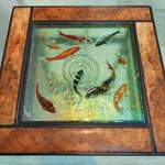 koi side table w burr elm