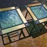 matching swirl tables