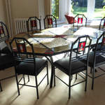 10 seat dining table & chairs