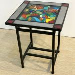 1 Stained Glass Side Table
