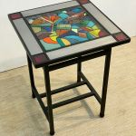 2 Stained Glass Side Table