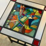 3 Stained Glass Side Table