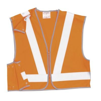 HYM012 (Carton) Hymac Hi Vis Short Rail Vest (Orange)