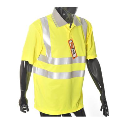 HYM771  Hymac Hi Vis Polo Shirt (Yellow)